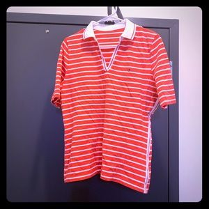 Tommy Hilfiger Printed Striped Cotton Polo